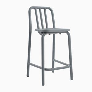Blue Grey Tube Tambouret Stool by Mobles114