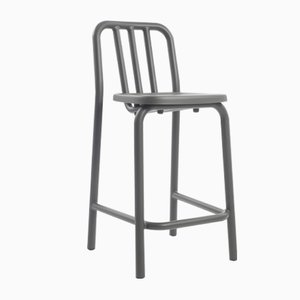 Anthracite Grey Tube Tambouret Stool by Mobles114