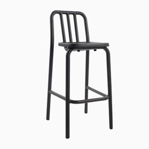 Black Tube Tambouret Stool by Mobles114
