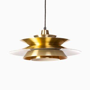 Lampada Mid-Century in ottone, anni '60