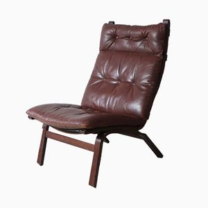 Danish Leather Lounge Chair, 1970s