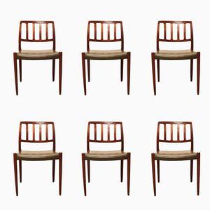 Modell 83 Stühle von Niels O. Møller für J.L. Møllers Møbelfabrik, 1960er, 6er Set