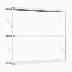 White Tria Pack Wall Shelf by J.M. Massana & J.M. Tremoleda for Mobles 114