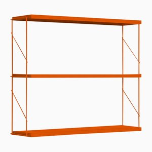 Orange Tria Pack Wall Shelf by J.M. Massana & J.M. Tremoleda for Mobles 114