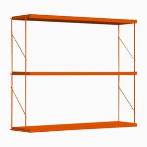 Orange Tria Pack Wall Shelf by J.M. Massana & J.M. Tremoleda for Mobles 114