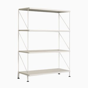 Tria White Shelving Unit by Mobles114