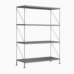 Tria Grey Shelving Unit by Mobles114