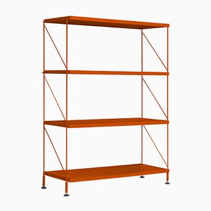 Tria Orange Shelving Unit by Mobles114