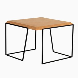 Grão #2 Coffee Table in Light Cork with Black Legs by Mendes Macedo for Galula