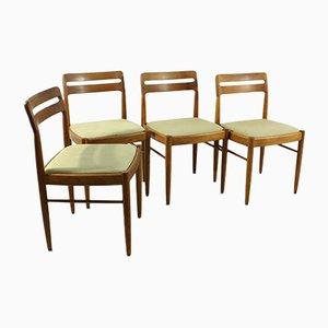 Sedie da pranzo vintage in teak di H.W. Klein per Bramin, anni '60, set di 4