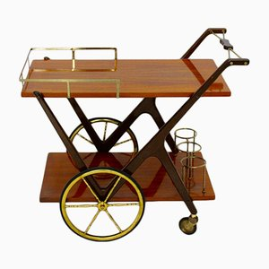 Vintage Italian Bar Cart by Cesare Lacca, 1950s