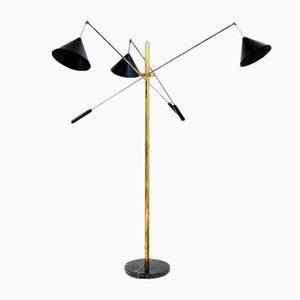 Dreifache Italienische Stehlampe, 1960er