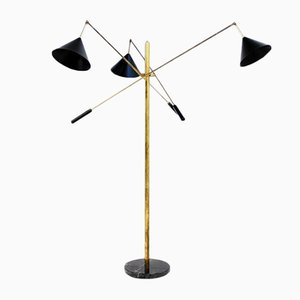 Italian Triple Floor Lamp, 1960s