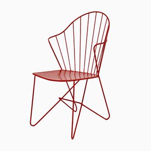 Red Astoria Chair by V. Moedlhammer for Sonett Vienna, 1950s