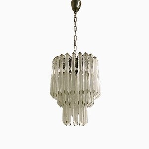 Mid-Century Murano Glass Prisms Chandelier by Paolo Venini