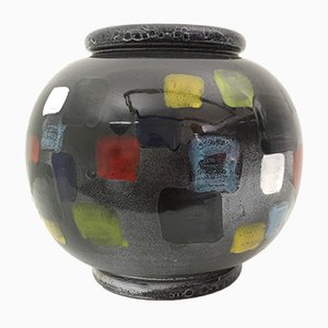 Vase Deruta Vintage Noir en Céramique