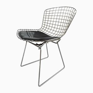 Vintage Chrome Side Chair by Harry Bertoia for Knoll International, 1970s