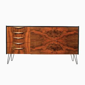 Czech Walnut Sideboard, 1960s