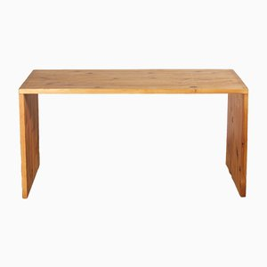 Vintage Dutch Solid Pine Desk by Ate van Apeldoorn for Houtwerk Hattem, 1970s