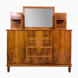 Art Deco Italian Plywood & Walnut Dresser, 1950s