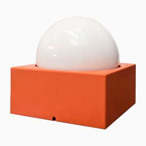 Vintage Orange Block Lamp, 1960s
