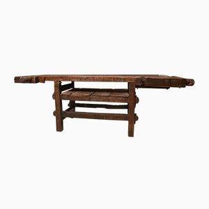 Mesa de trabajo de carpintería italiana antigua