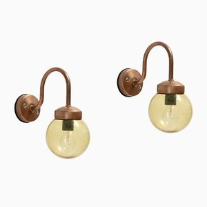 Outdoor Copper Wall Lights from Gnosjö Konstsmide AB, 1970s, Set of 2