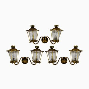 Vintage Italian Wall Lights, 1940s, Set of 3