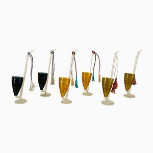 Bicchierini Port Sippers in vetro soffiato a bocca di Lauscha Glass, anni '50, set di 6