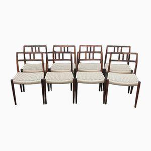 Vintage Modell 79 Stühle aus Palisander von Niels Otto Moller für J.L. Moller, 8er Set