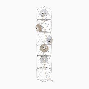 Lámpara de pie modular era espacial de Felice Ragazzo para Guzzini, años 70