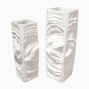 Mid-Century Biscuit Porcelain Vases from Kaiser, 1960s, Set of 2