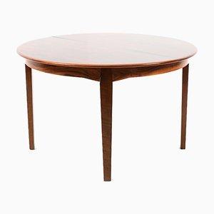 Mesa de comedor danesa vintage redonda de palisandro