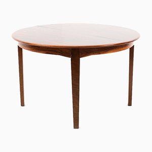 Vintage Round Danish Rosewood Dining Table
