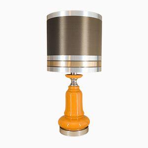 Lámpara de pie vintage con base de cerámica, años 70