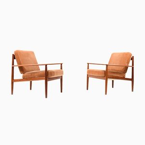 Model 118 Easy Chairs by Grete Jalk for France & Søn, 1960s, Set of 2