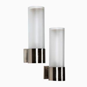 Lámparas de pared de Angelo Lelli para Arredoluce, años 60. Juego de 2
