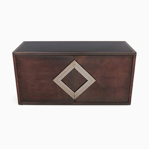 Red Copper Patinated Brass Credenza from Maison Jansen
