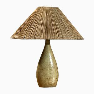 Skulpturale Vintage Grès Tischlampe aus Keramik von La Borne, 1970er