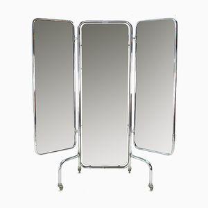 Großer klappbarer Vintage Triptychon Spiegel, 1950er