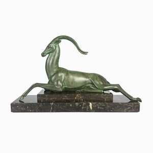 French Art Deco Spelter Sculpture by Pierre Le Faguays, 1930s
