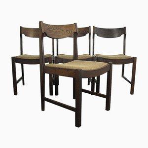 Vintage Esszimmerstühle aus Wengeholz, 1970er, 4er Set