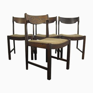Vintage Wenge Dining Chairs, 1970s, Set of 4