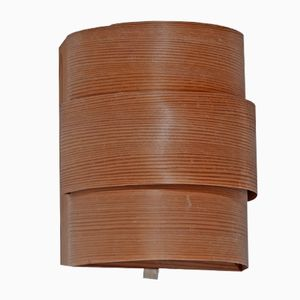 Vintage Wooden Wall Lamp by Hans-Agne Jakobsson for Markaryd