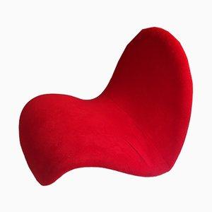 Poltrona Tongue rossa di Pierre Paulin, anni '60