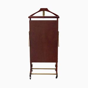 Vintage Italian Walnut Valet and Trouser Press from Fratelli Reguitti