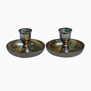 Pair of Brass Candleholders from Skultuna, 1980s