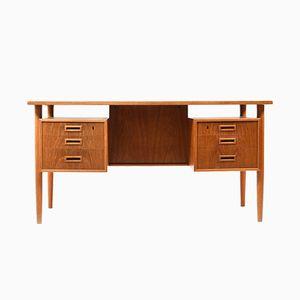 Freistehender dänischer Vintage Schreibtisch aus Teak & Eiche, 1960er