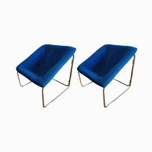 Cubic Vintage Lounge Chairs, 1970s, Set of 2
