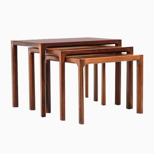 Danish Rosewood Nesting Tables by Aksel Kjersgaard for Odder Møbler, 1960s